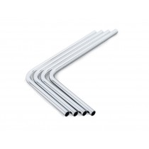 Bitspower Pre-bent 90-Degree Brass Hard Tubing OD12MM Silver - Length 220x300MM