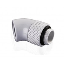 Bykski G/14 Male to Female 45 Degree Rotary Elbow Fitting - White (B-R45-X)