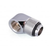Bykski G1/4 Male to Female 90 Degree Rotary Elbow Fitting - Silver (B-RD90-X)
