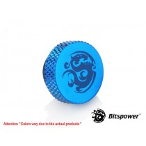 "Bitspower G1/4"" Royal Blue Stop Fitting"