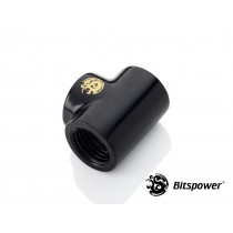 Bitspower Matt Black T-Block With Triple IG1/4""