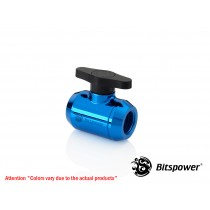 Bitspower Royal Blue Mini Valve With Black Handle