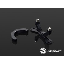 Bitspower Premium Reservoir Mount Black 2 pcs.