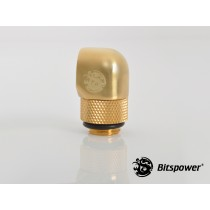 "Bispower G1/4"" True Brass Rotary 90-Degree IG1/4"" Extender"