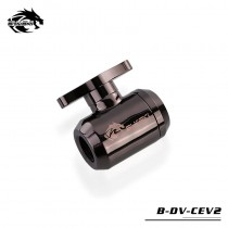 Bykski Water Valves Hand-Tighten Drain Valves Switch Valves Aluminum Handle For Hard Tubing B-DV-CEV2 Grey
