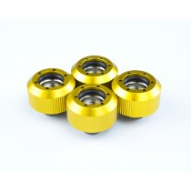 Revolver- Straight Knurled Grip  -  Anodized Gold- (4PK)  Compression Fitting 3/8in. ID x 1/2in. OD