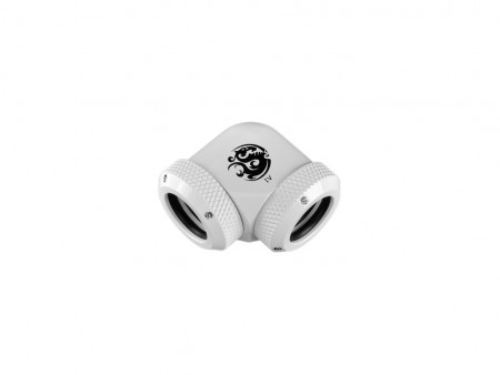Bitspower Deluxe White Enhance 90-Degree Dual Multi-Link Adapter For OD 12MM