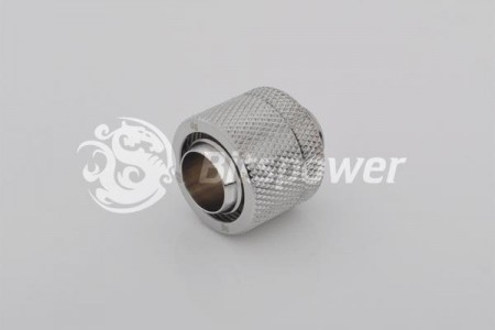 "(2 PCS.) Bitspower G1/4"" Silver Shining Compression Fitting CC6 For ID 7/16"" OD 5/8"" Tube"