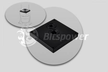Bitspower Dual/Single D5 TOP Reservoir Adaptor (Black POM)