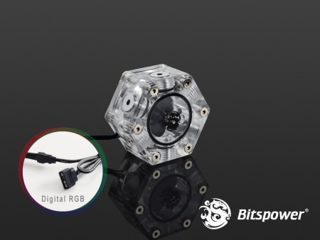 Bitspower Hexagon Flow Indicator-Digital RGB