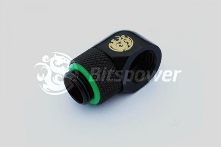 "G1/4"" Matt Black Rotary 90-Degree IG1/4"" Extender"