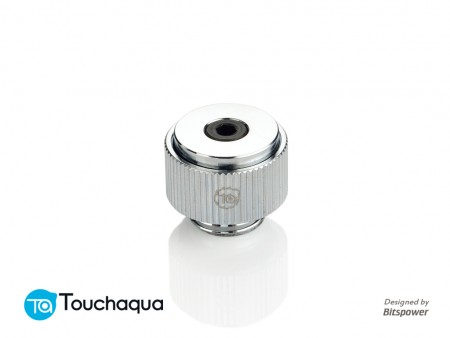 "Touchaqua G1/4"" AIR-Exhaust Fitting (Glorious Silver)"